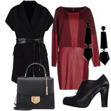 Outfit Abito bordeaux