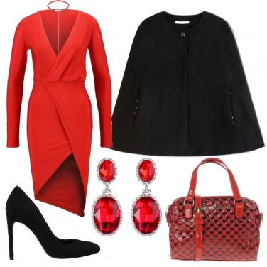 a600dcc54f72 Rosso rubino  outfit donna Chic per cerimonia e serata fuori