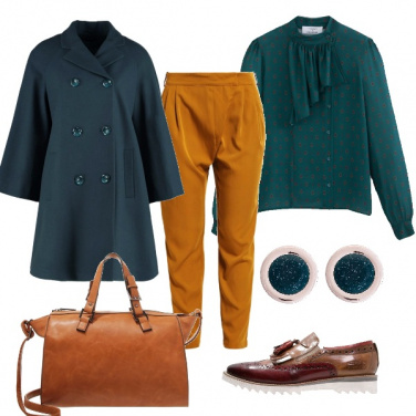 Outfit Verde ed ocra