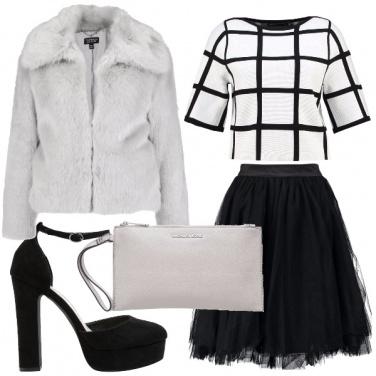 Outfit Tulle e pellicciotto