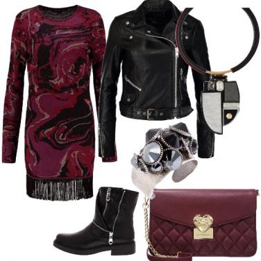 Outfit Frange, pelle e colori