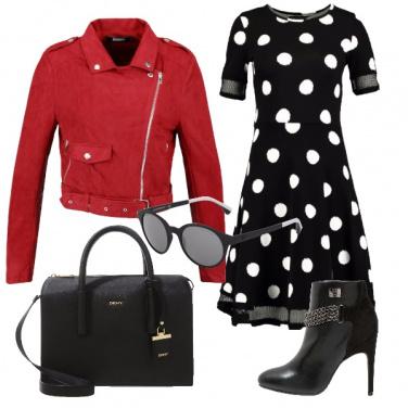 Outfit Un vestito a pois