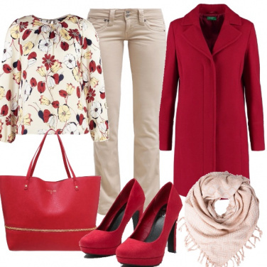 Outfit Rosso ciliegia