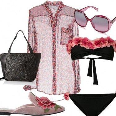 Outfit Rose in acqua