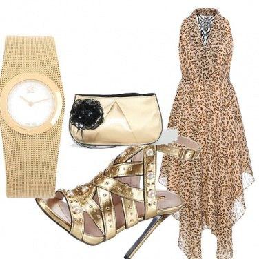 Outfit Oro di sera