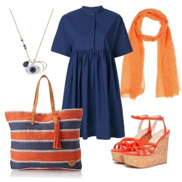 Outfit CMPS Orange and blue