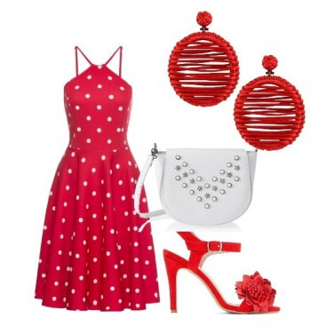 Outfit Sera d\'estate in rosso