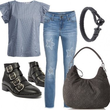 Outfit Denim trendy