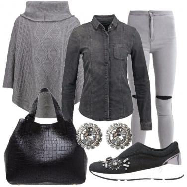 Outfit I toni del grigio