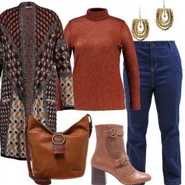 Outfit Curvy etnica chic