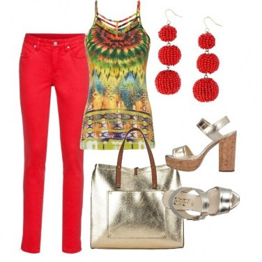 Outfit Mexican colors