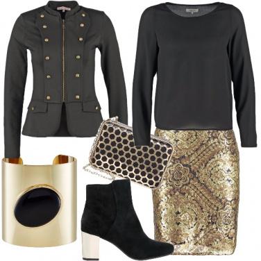 Outfit Oro suntuoso