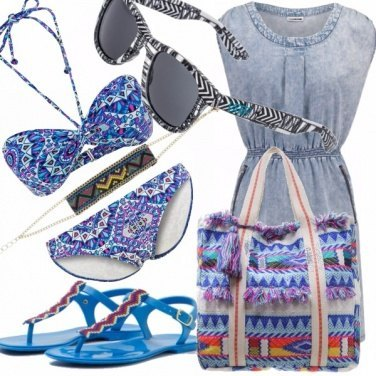 Outfit Blue boho