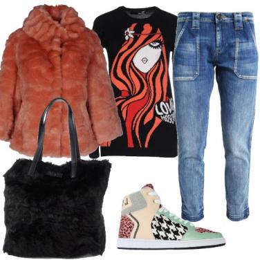 Outfit A tutta pelliccia
