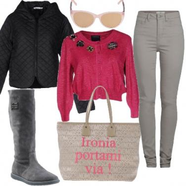 Outfit La borsa con le scritte