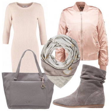 Outfit Bomber rosa