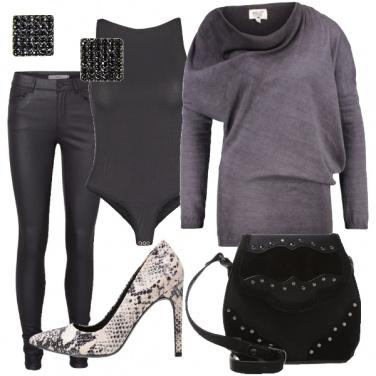 Outfit Bagliori di nero