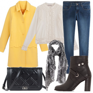 Outfit Cappotto e merletti