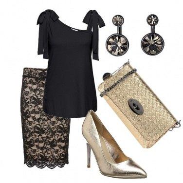 Outfit Fiocchi, pizzo e oro