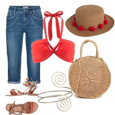 Outfit Mar rosso