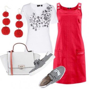 Outfit Scamiciato rosso