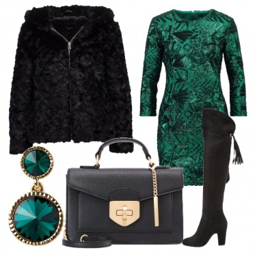 Outfit Serata in verde