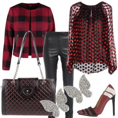 Outfit Intrecci di rosso e nero