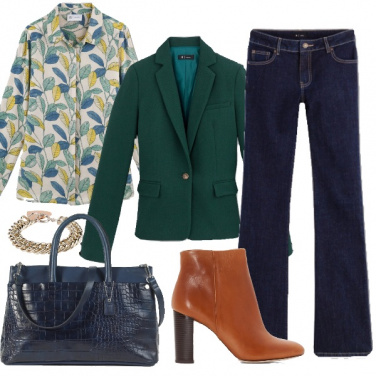 Outfit Verde in autunno