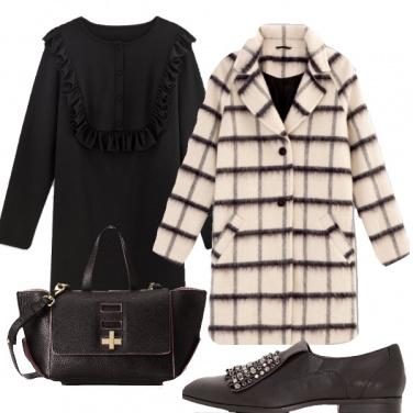 Outfit Il carattere del cappotto a quadri