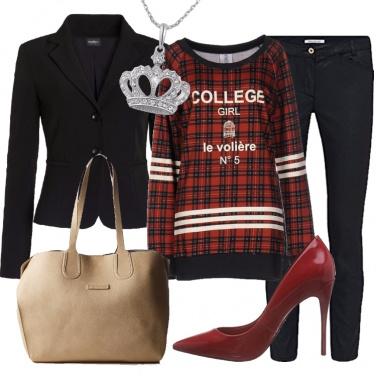 Outfit La felpa scozzese