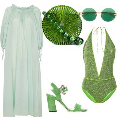 Outfit Spiaggia green