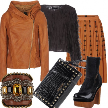 Outfit Eclettico rock