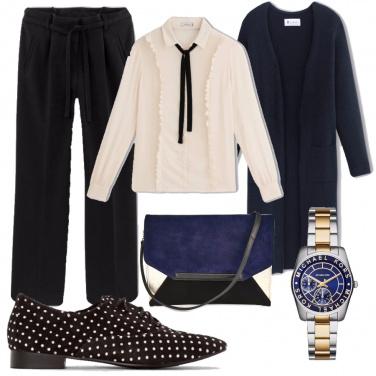 Outfit Blu e nero? si può