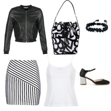 Outfit Bianco e nero...un must have!