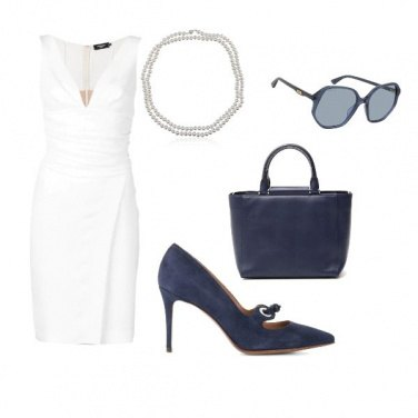 Outfit Le bleu et le blanche
