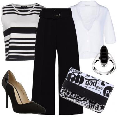 Outfit Chic in bianco e nero