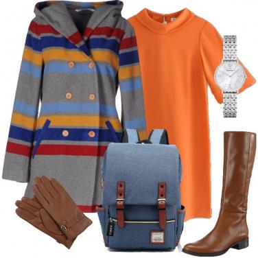 Outfit A scuola con il caban