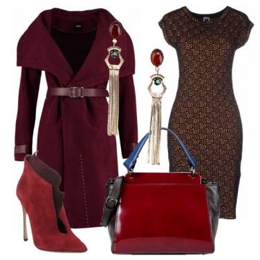 Outfit Rosso porpora