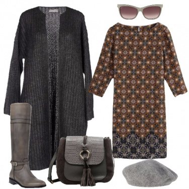 Outfit Sfumature di grigio per taglie comode