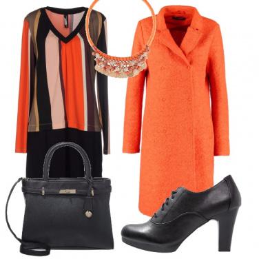 Outfit Cappotto arancione