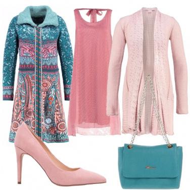 Outfit Rosa e azzurro