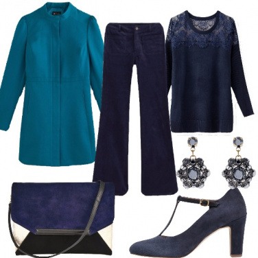 Outfit Il blu pavone