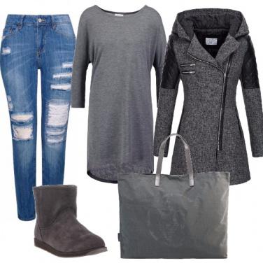 Outfit Moda maxi maglia
