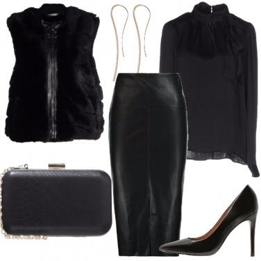 Outfit Elegante un po\' rock