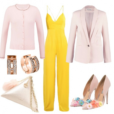 Outfit Cerimonia in rosa