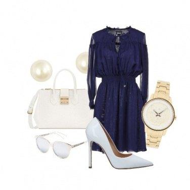 Outfit Bianco️ Blu e Oro