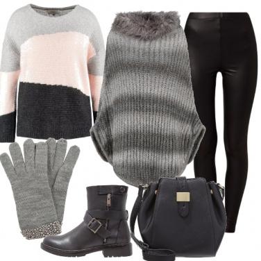 Outfit Guanti grigi