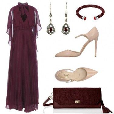 Outfit Long dress plissè