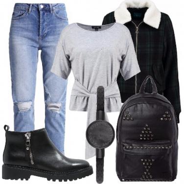 Outfit Un tocco di tartan