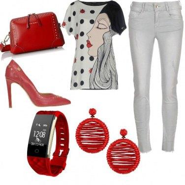 Outfit Un punto...rosso!